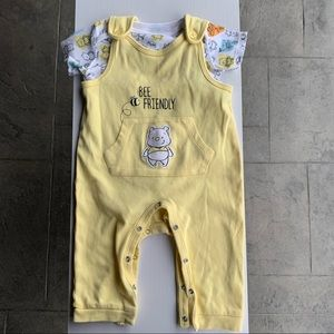Disney baby Pooh organic cotton outfit